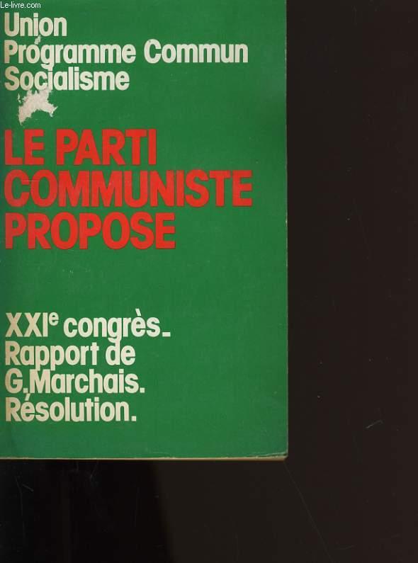 UNION DU PEUPLE DE FRANCE POUR LE CHANGEMENT DEMOCRATIQUE.