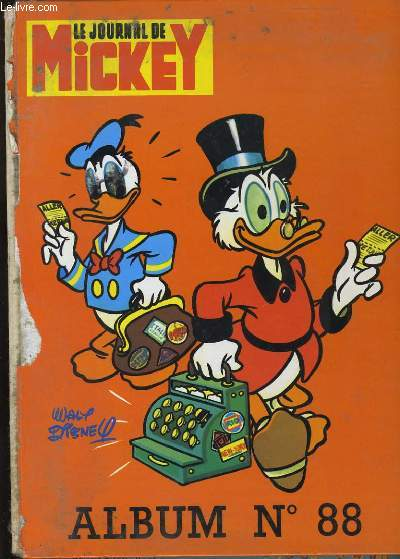 LE JOURNAL DE MICKEY. ALBUM N°88. 8 NUMEROS.