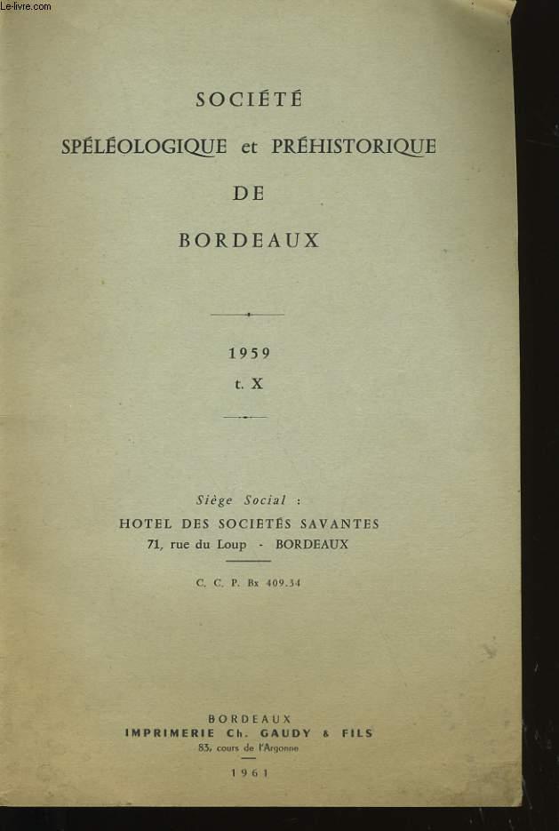 SOCIETE SPELEOLOGIQUE ET PREHISTORIQUE DE BORDEAUX.