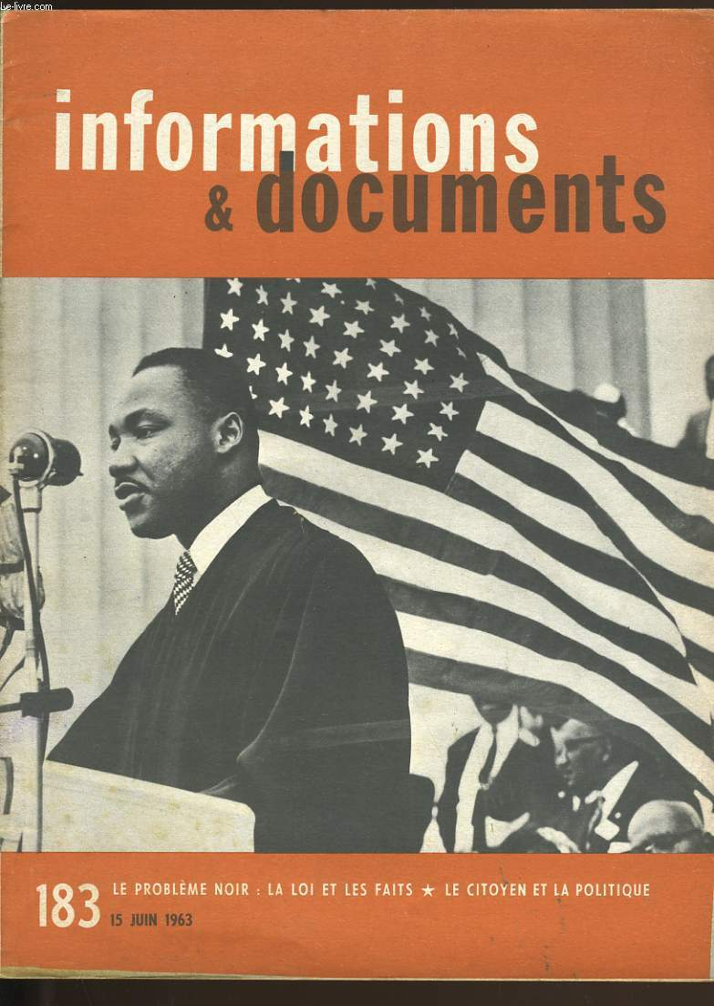 INFORMATIONS ET DOCUMENTS N° 183.