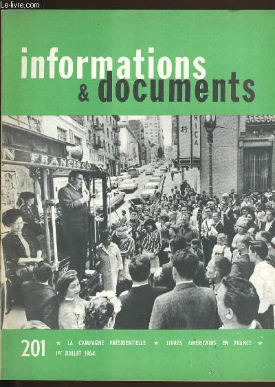 INFORMATIONS ET DOCUMENTS N°  201.