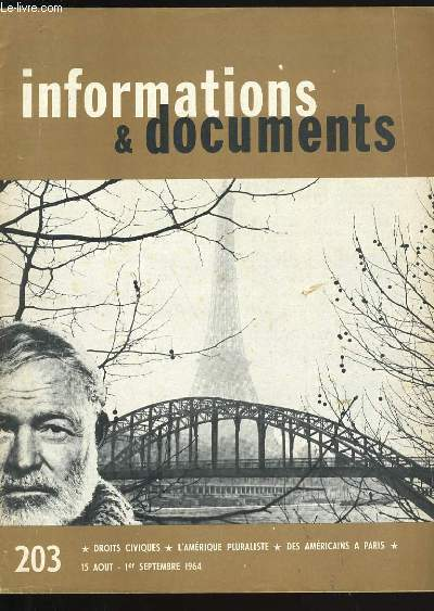 INFORMATIONS ET DOCUMENTS N° 203.
