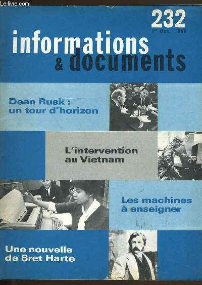 INFORMATIONS ET DOCUMENTS N° 232.