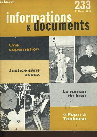 INFORMATIONS ET DOCUMENTS N° 233 .
