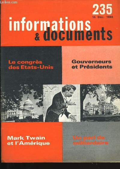 INFORMATIONS ET DOCUMENTS N°  235.