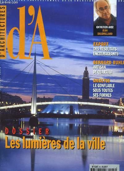 D'ARCHITECTURE. LE MAGAZINE PROFESSIONNEL DE LA CREATION ARCHITECTURALE. N° 88.