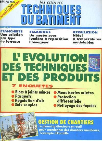 LES CAHIERS TECHNIQUES DU BATIMENT  N° 147.