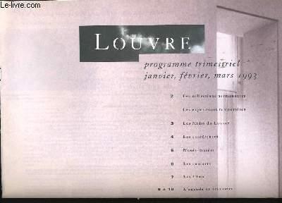 LOUVRE. PROGRAMME TRIMESTRIEL. DE JANVIER A MARS