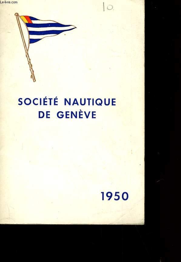 SOCIETE NAUTIQUE DE GENEVE.