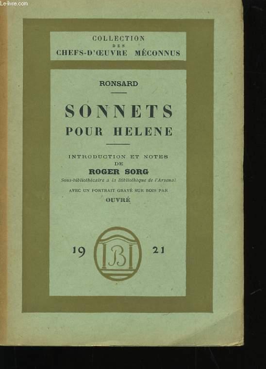 SONNETS POUR HELENE.