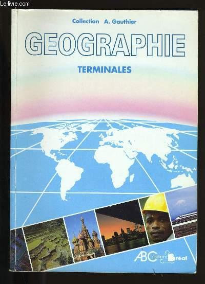 GEOGRAPHIE TERMINALES NOUVEAU PROGRAMME.