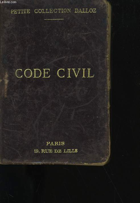 CODE CIVIL.