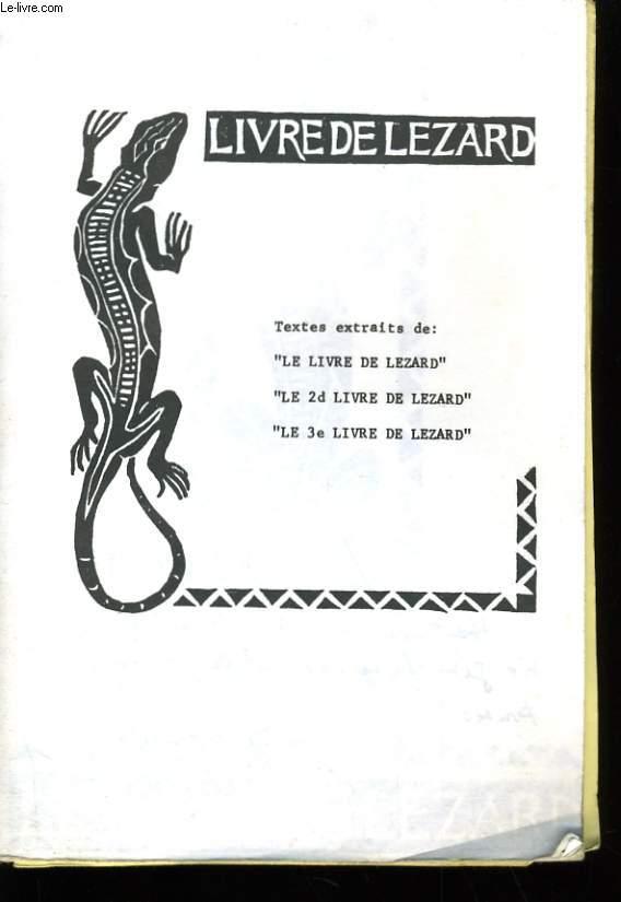 LE LIVRE DE LEZARD