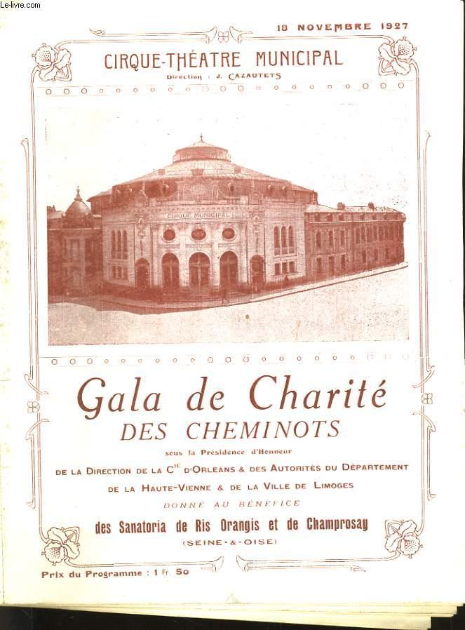 GALA DE CHARITE DES CHEMINOTS - PROGRAMME