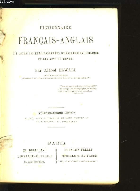 DICTIONNAIRE FRANCAIS-ANGLAIS - 24EME EDITION