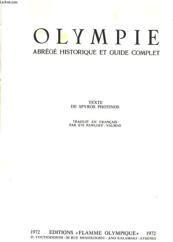 OLYMPIE ABREGE HISTORIQUE ET GUIDE COMPLET