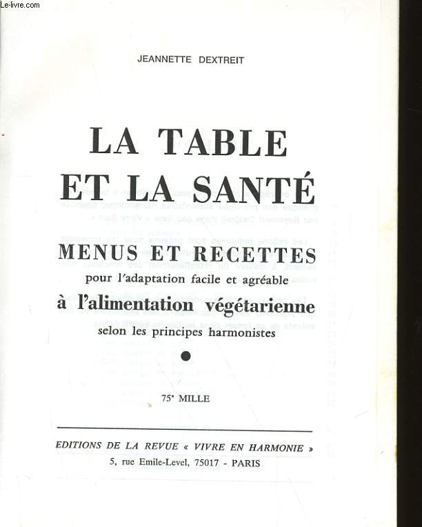 LA TABLE ET LA SANTE