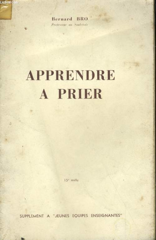 APPRENDRE A PRIER