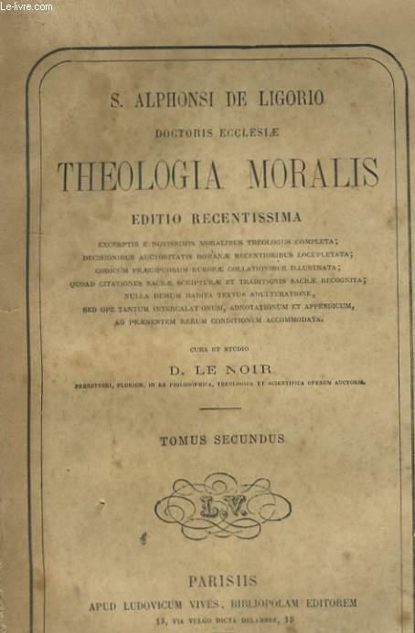 THEOLOGIA MORALIS - TOMUS SEDONDUS