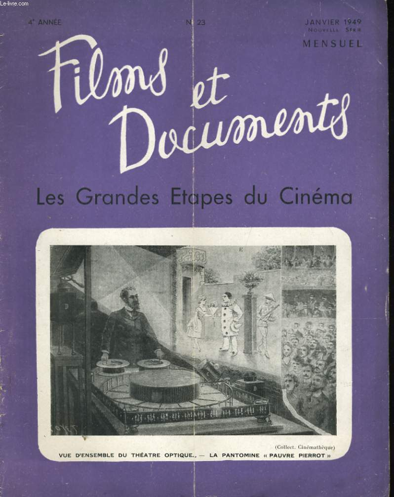 FILMS ET DOCUMENTS - 4EME ANNEE - N°23