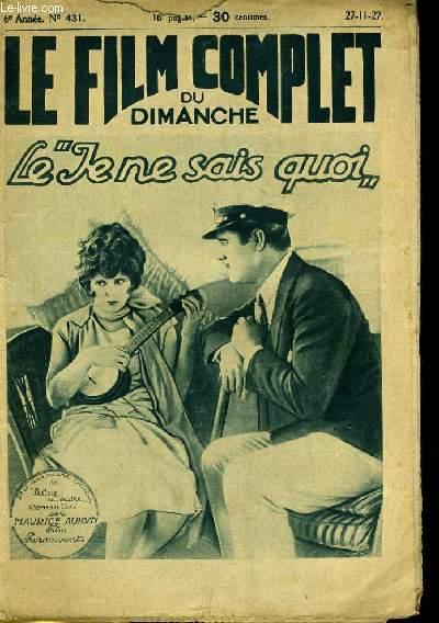 LE FILM COMPLET DU DIMANCHE N° 431 - 6E ANNEE - LE