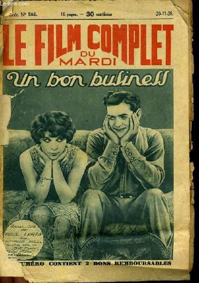 LE FILM COMPLET DU MARDI N° 585 - 7E ANNEE - UN BON BUSINESS