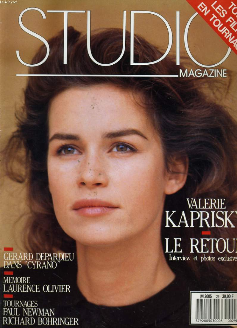 Studio magazine n° 29 - valerie kaprisky - gerard depardieu - memoire laurence olivier - tournages: paul newman, richard bohringer. - RO20098148