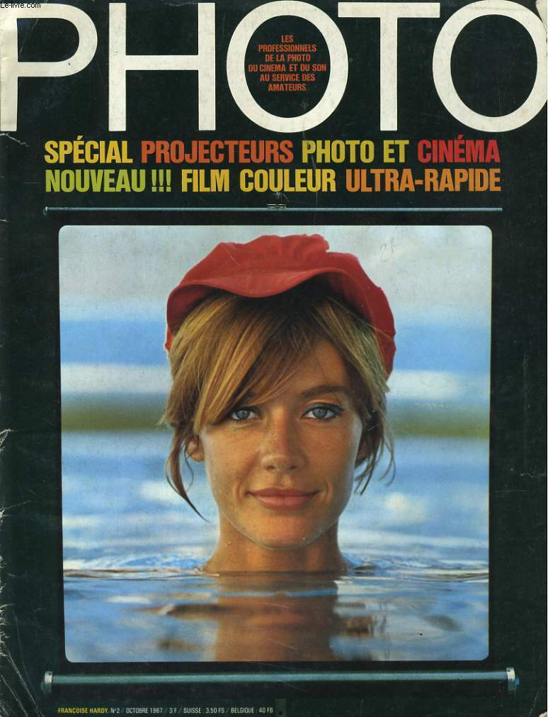 PHOTO N° 2 - SPECIAL PROJECTEURS ¨PHOTO ET CINEMA NOUVEAU - FILM EN COULEUR ULTRA-RAPIDE - FRANCOISE HARDY