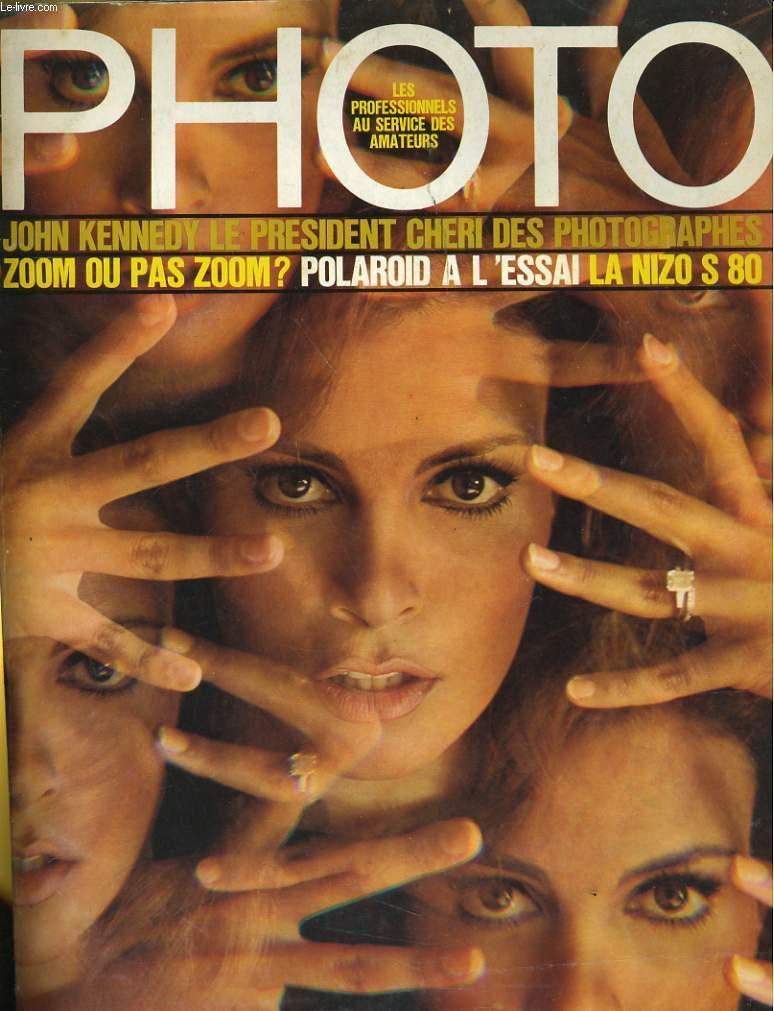 PHOTO N° 9 - JOHN KENNEDY LE PRESIDENT CHERI DES PHOTOGRAPHES - ZOOM OU PAS ZOOM? - POLAROID A L'ESSAI - LA NIZO S 80
