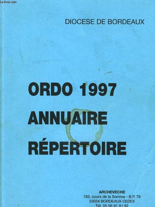 ORDO 1997 - ANNUAIRE REPERTOIRE