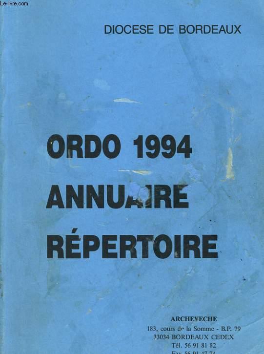 ORDO 1994 - ANNUAIRE REPERTOIRE