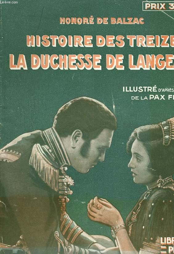 HISTOIRE DES TREUZE - LA DUCHESSE DE LANGEAIS