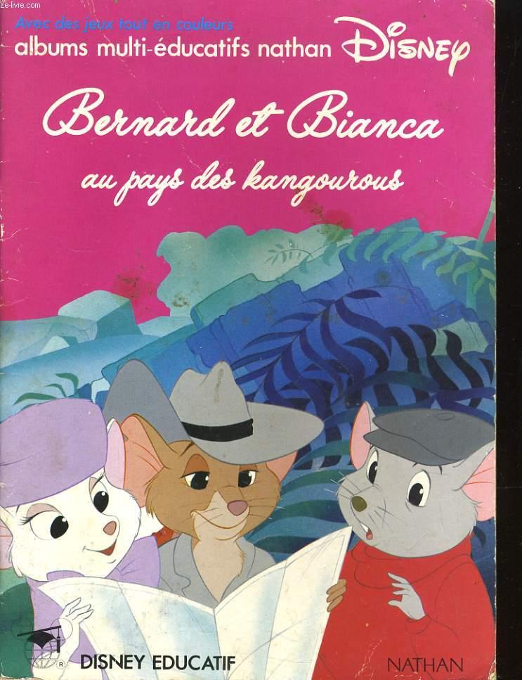 ALBUMS MULTI-EDUCATIFS DISNEY NATHAN - BERNARD ET BIANCA AU PAYS DES KANGOUROUX