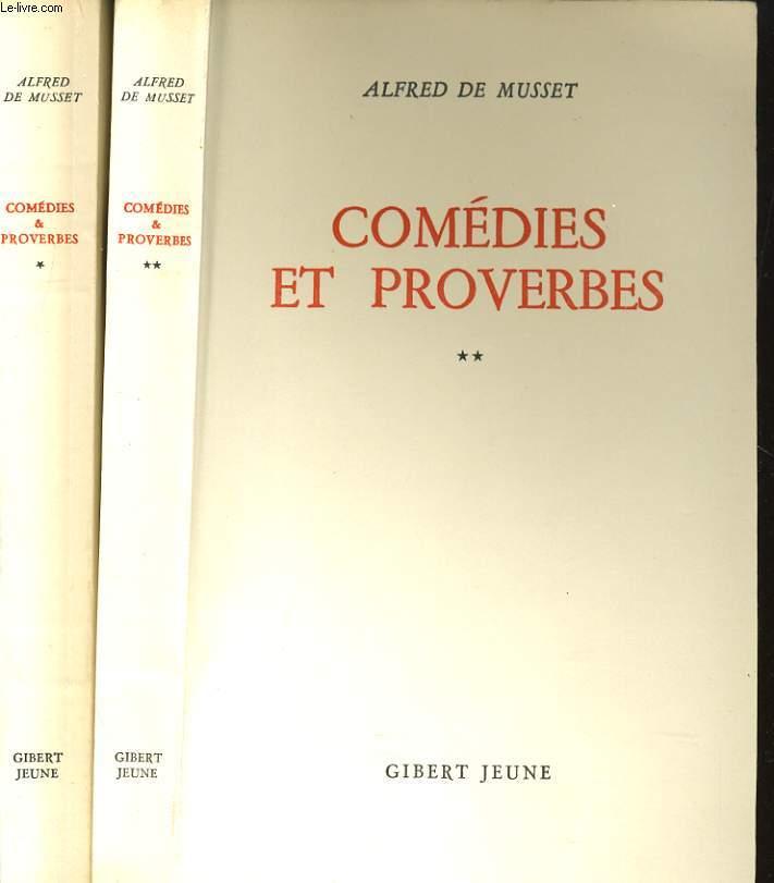 COMEDIES ET PROVERBES TOME I ET II