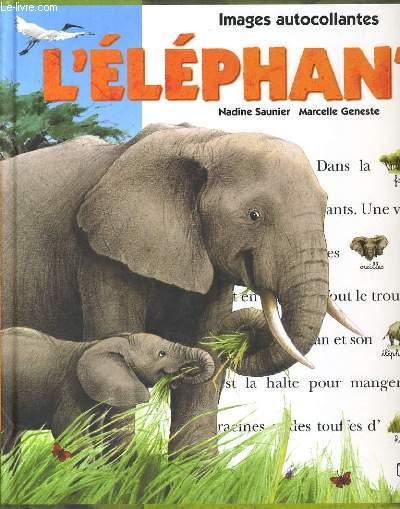 IMAGES AUTOCOLLANTES - L'ELEPHANT