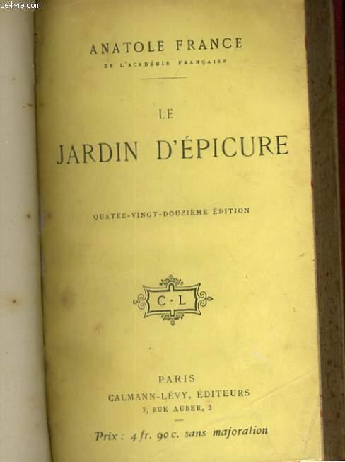 LE JARDIN D'EPICURE