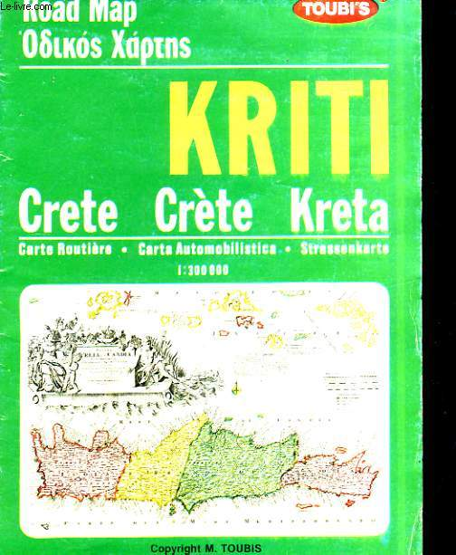 CRETE CARTE ROUTIERE / CRETE, CARTA AUTOMOBILISTICA / KRETA, STRASSENKARTE
