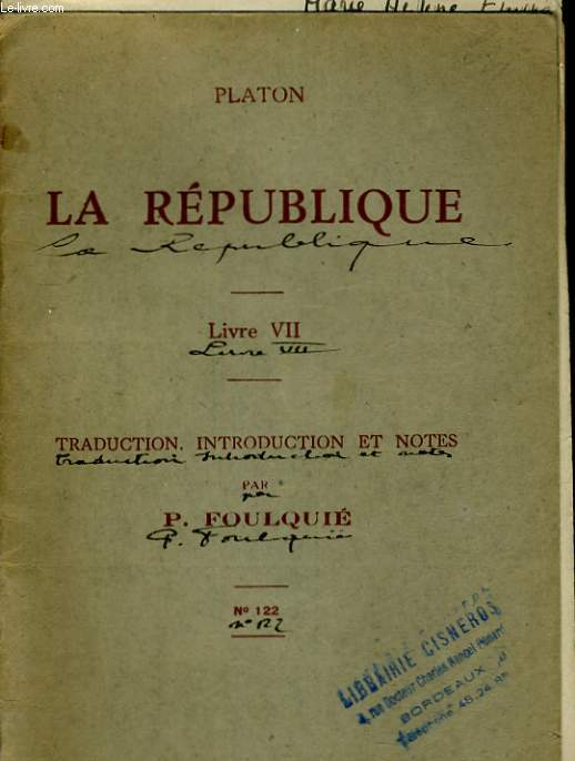 LA REPUBLIQUE. LIVRE VII