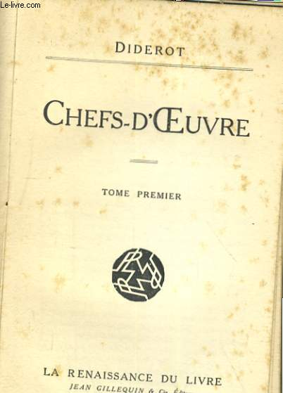 CHEFS-D'OEUVRE. TOME PREMIER