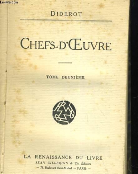 CHEFS-D'OEUVRE. DEUXIEME PREMIER