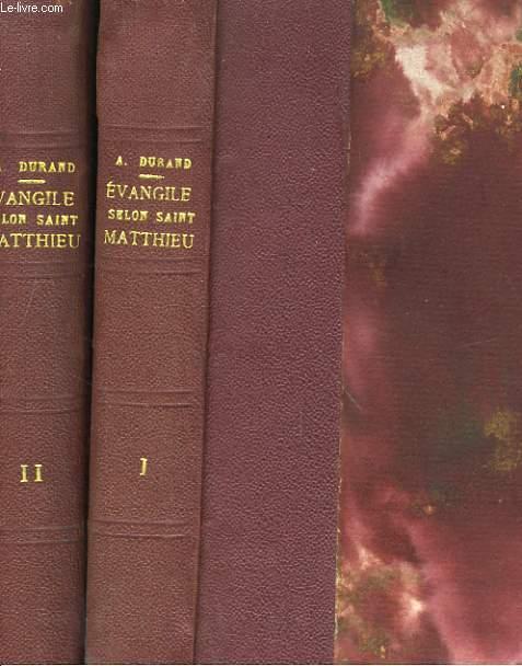 EVANGILE SELON SAINT MATTHIEU 2 TOMES
