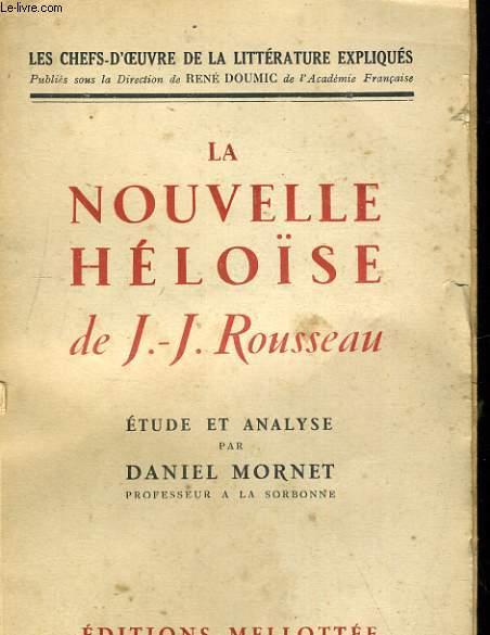 LA NOUVELLE HELOISE DE J.J. ROUSSEAU
