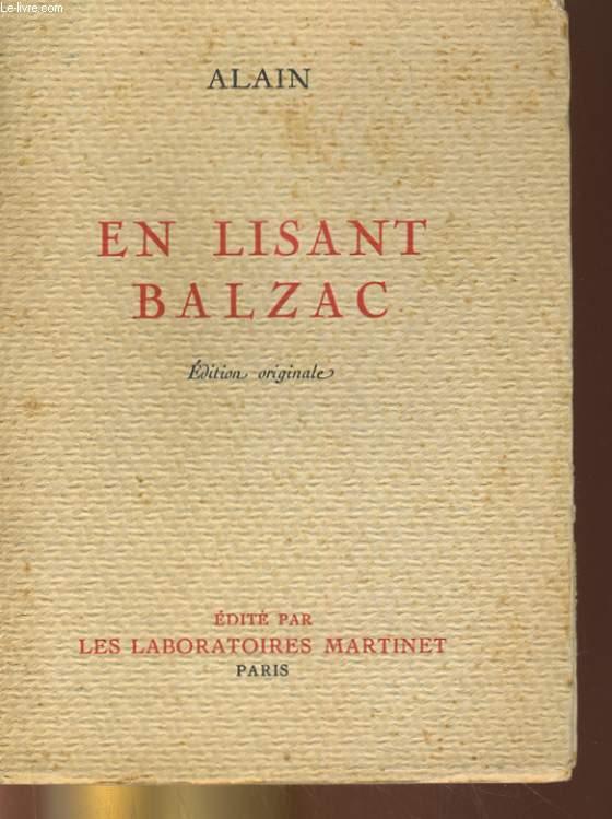 EN LISANT BALZAC - EDITION ORIGINALE