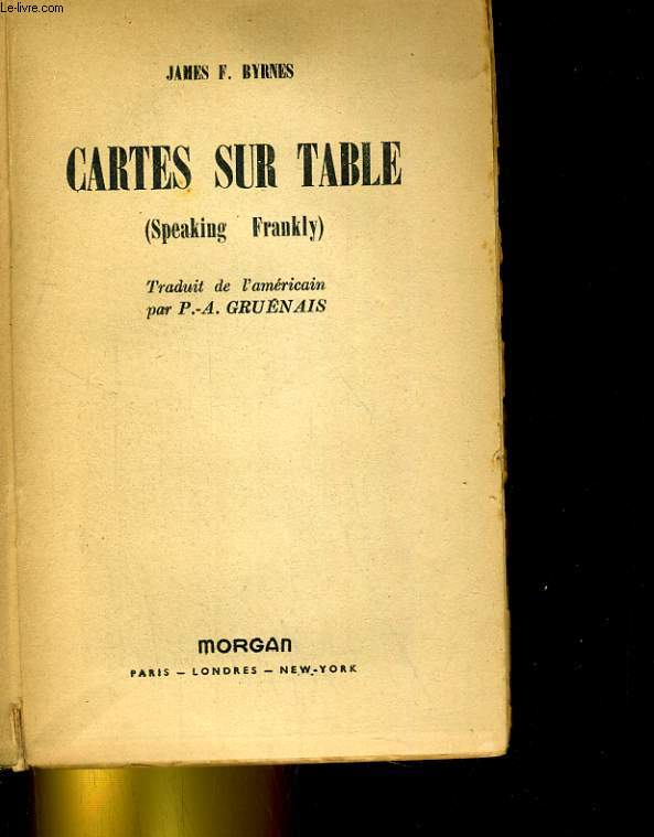CARTES SUR TABLE (SPEAKING FRANKLY)