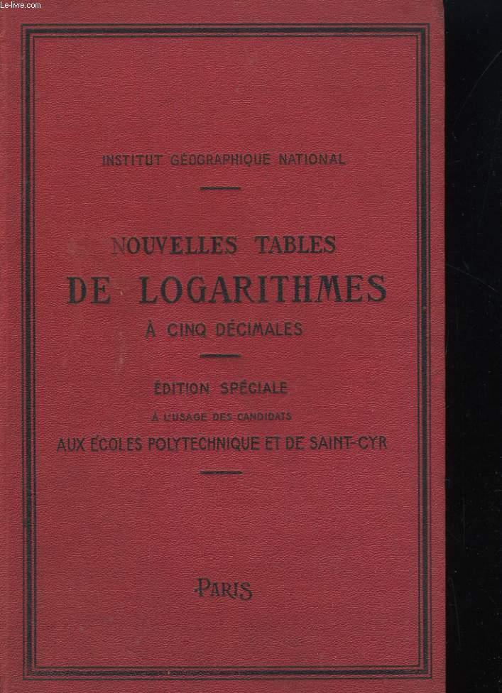 Nouvelles tables de logarithmes à cinq décimales pour les lignes trigonométriques dans les deux systèmes de la division sexagésimale du quadrant et pour les nombres de 1 à 12.000