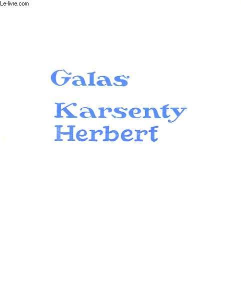 PROGRAMME DES GALAS KARSENTY HERBERT: LES MONTRES SACRES DE JEAN COCTEAU