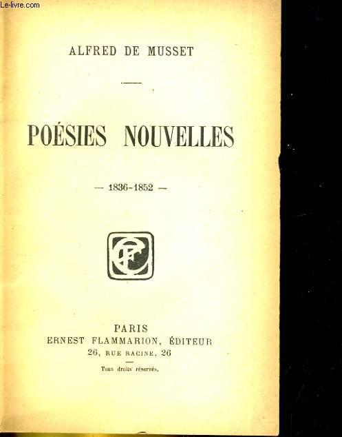 POESIES NOUVELLES. 1836-1852