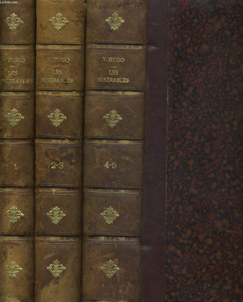 LES MISERABLES 5 TOMES EN 3 VOLUMES