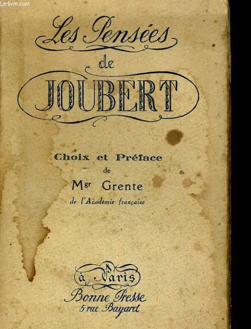 LES PENSEES DE JOUBERT