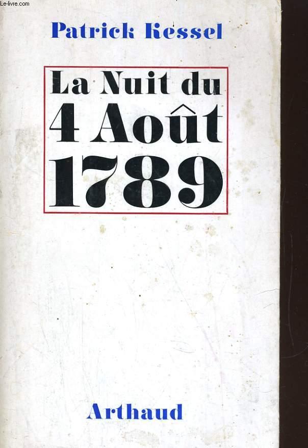 LA NUIT DU 4 AOUT 1789